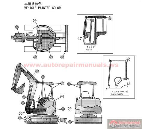 Yanmar Crawler Backhoe Model Vio 27 2 For Japan Parts