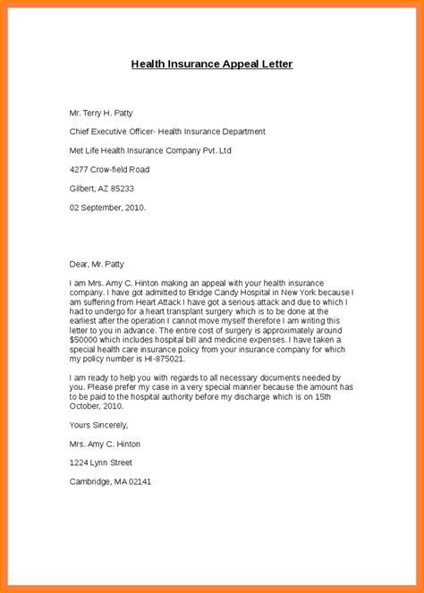 insurance appeal letter template 7 insurance appeal letter sle appeal letter