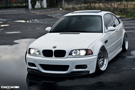 bmw m3 stanced snow white stancenation form gt function