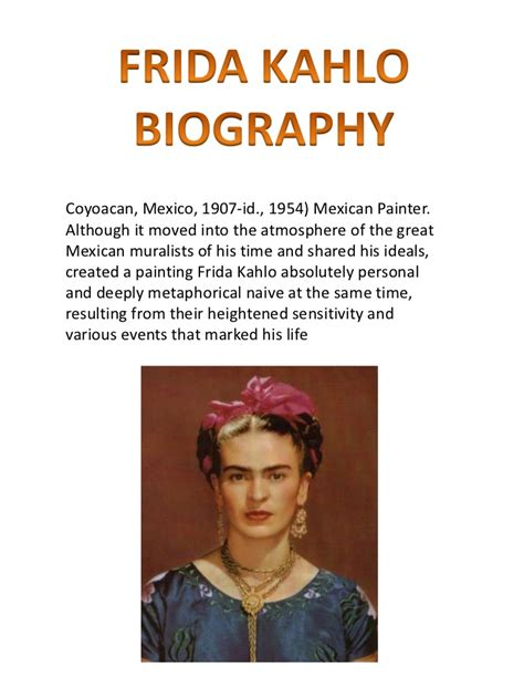 frida kahlo brief biography frida kahlo by in 233 s claudia lara and marina