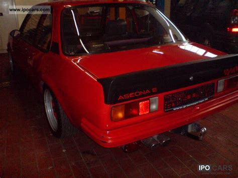 opel ascona sport 1981 opel ascona b 2 0e sport car photo and specs