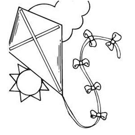 free printable coloring page of a kite kite in the sky coloring page