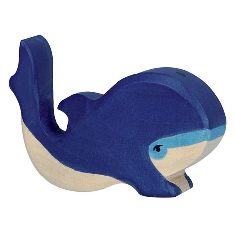 Small Blue holztiger small blue whale