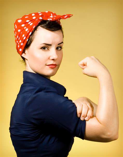 Easy Handmade Costumes - rosie the riveter costume