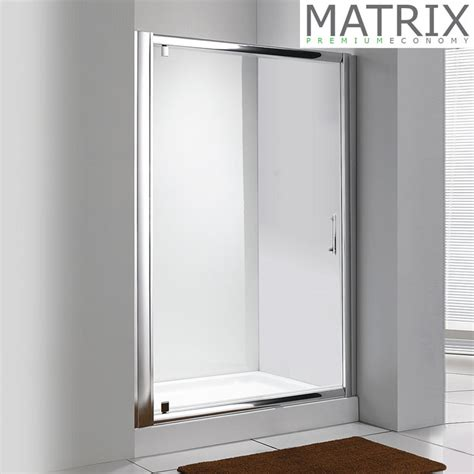 Matrix 1850mm Premium Economy Pivot Shower Door Matrix Shower Doors
