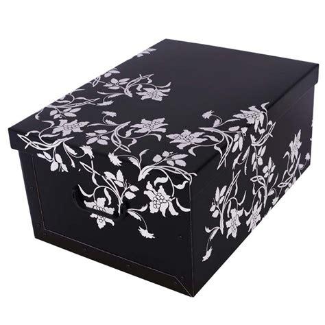 scatola per armadio scatola per armadi fiori barocchi nero