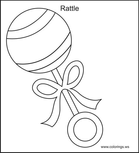 Coloring Page Rattle | baby toys coloring pages coloring home