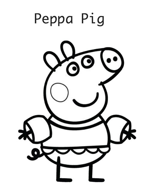 peppa pig para colorear free coloring pages of peppa pig pedro