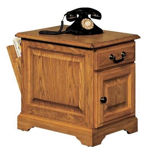 Heritage Oak Storage End Table Coffee Amp End Tables Living Room with regard to End Tables With