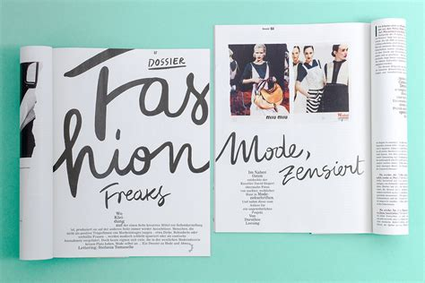 graphic design layout magazine studio martin sebald missy magazine layout lettering