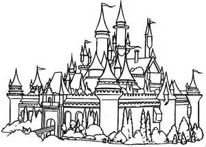 disney castle coloring pages cinderella coloring pages to print