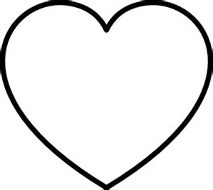 white heart with black outline clip art at clker com