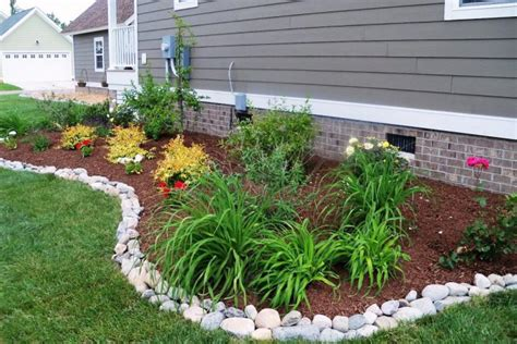 rock garden bed 17 simple and cheap garden edging ideas for your garden