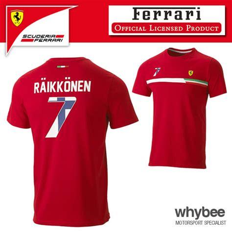Ferrari T Shirt 2015 by New 2015 Scuderia Ferrari F1 Kimi Raikkonen 7 Mens T