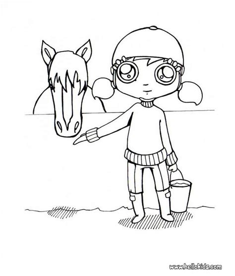 girl horse coloring page girl and horse coloring pages hellokids com