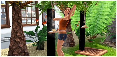 Take Me Out Of The Bathtub Keep Me Clean Outdoor Shower Store The Sims 3