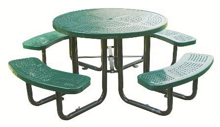 school outdoor furniture 46 quot perforated table outdoor school furniture
