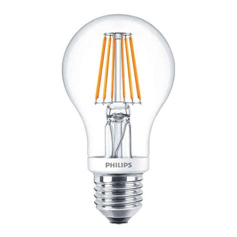 Ledbulb Genv 7 60w philips classic ledbulb e27 a60 7 5w 827 clear dimmable replaces 60w any l