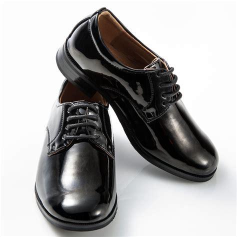 boys dress shoes black toe patent leather tuxedo