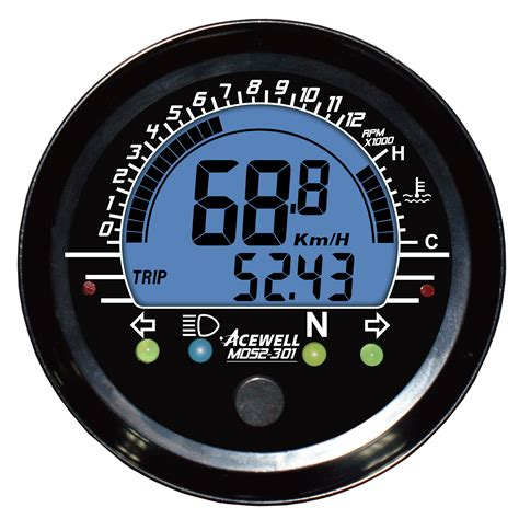 md  digital lcd display multi function speedometer mm
