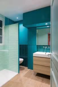 salle d eau bleu turquoise avec italienne laurence