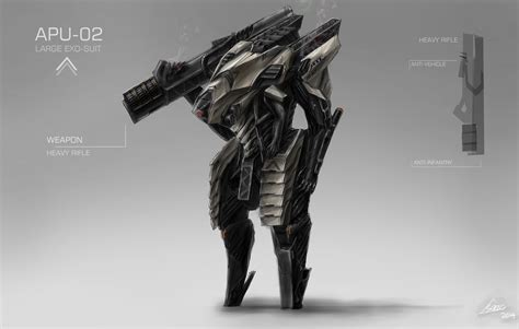 design concept art new mech exo suit design concept art by nobody00000000 on