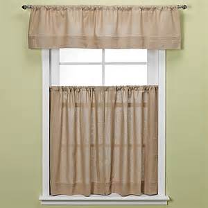 Curtain In Kitchen Buy Maison 36 Inch Kitchen Window Curtain Tiers In Linen From Bed Bath Beyond