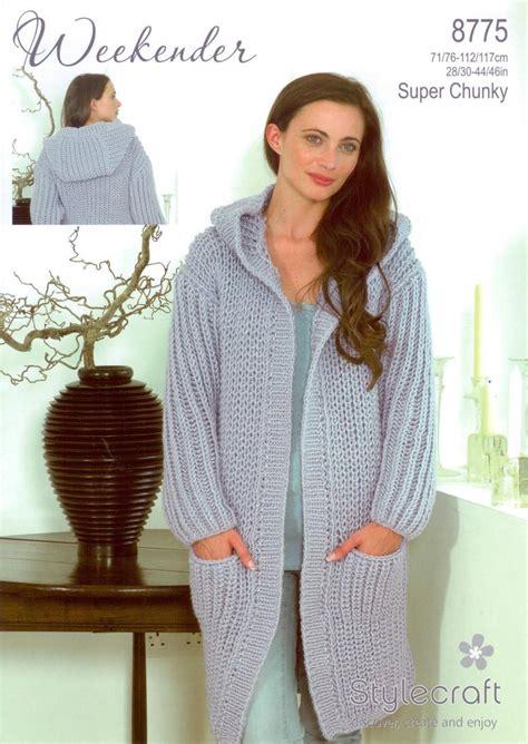 stylecraft knitting patterns to stylecraft 8775 knitting pattern cardigan coat in
