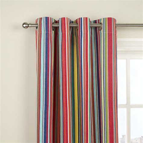 bright kids curtains bright stripe lined eyelet curtains multi contemporary