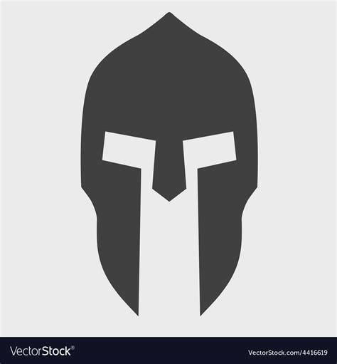 spartan mask template silhouette of spartan helmet royalty free vector image