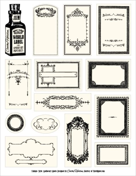 free label maker template bottle labels for your apothecary products worldlabel