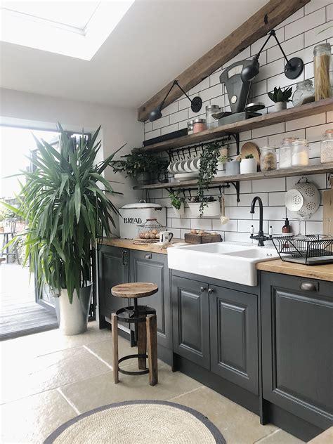 ways  create  rustic scandinavian kitchen