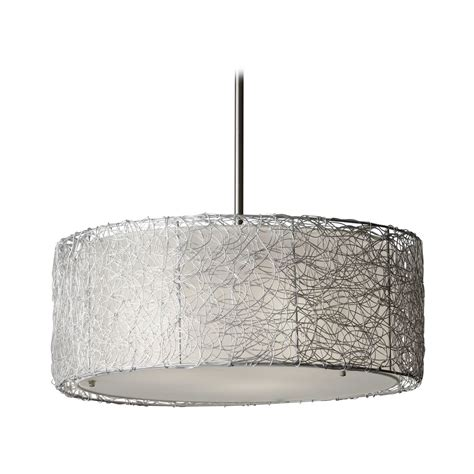 gray drum pendant light modern drum pendant light with grey shade in brushed steel