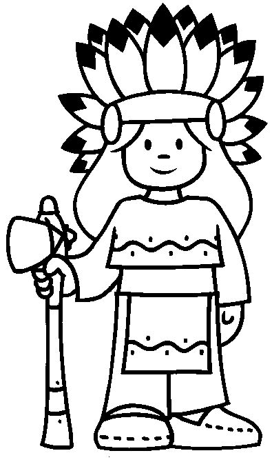 Indian Coloring Pages Little Chief Girl   Print Coloring Pages