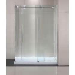 glass shower doors sliding schon lindsay 60 in x 79 in semi framed shower enclosure
