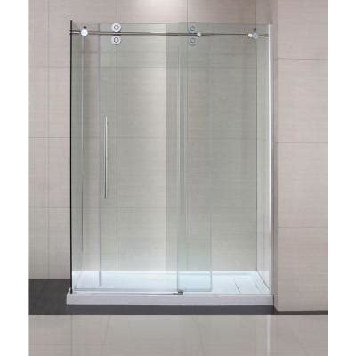 Bathroom Shower Doors Home Depot Schon Lindsay 60 In X 79 In Semi Framed Shower Enclosure With Sliding Glass Shower Door In