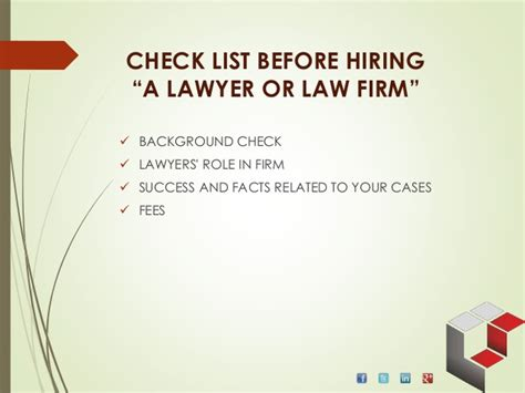 must facts before retaining a lawyer for your