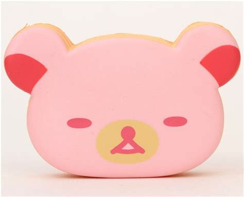 Cheap Cutlery Sets cute pink rilakkuma bear sponge cake squishy food