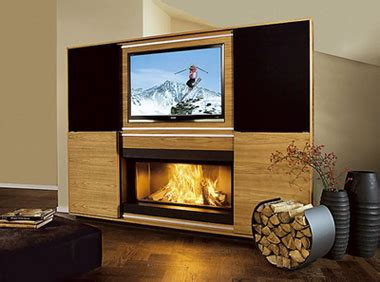 tv camino multimedia fireplace di vok caminetto e televisione insieme