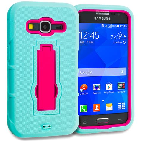 Soft Samsung Galaxy Prime for samsung galaxy prime hybrid soft shockproof cover teal pink ebay