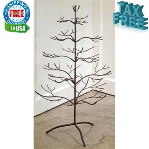 metal christmas tree ornament holders adorable decorations metal ornament display holder tree stand 36 in ebay