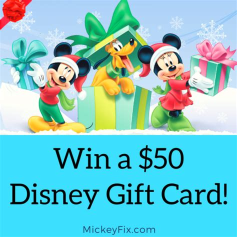 Win Disney Gift Card - enter to win a 50 disney gift card closed mickey fix