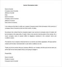 Termination Of Service Letter Template by Free Termination Letter Template 11 Free Word Documents Free Premium Templates