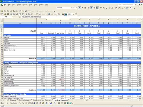 Business Expense And Income Spreadsheet by Income And Expenses Spreadsheet Small Business