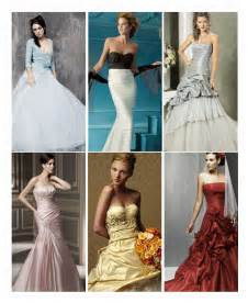 wedding dresses with color the politics of wedding gown color thefeministbride