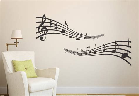 music notes wall decals music note scroll wall decals