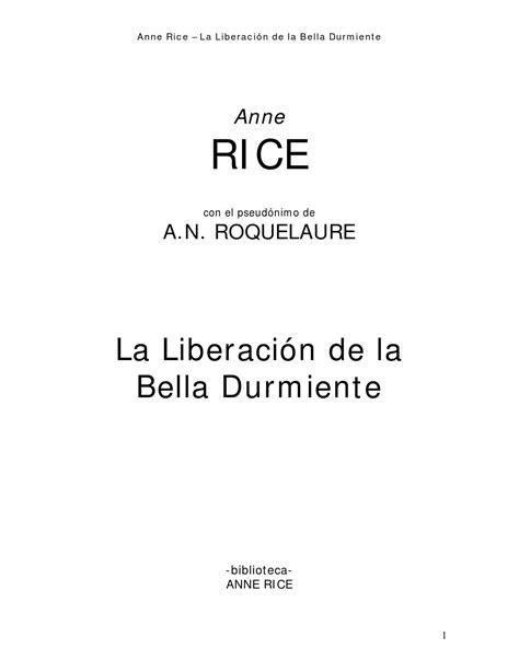 La liberacion de la bella durmiente (libro 3) by SuDiosa