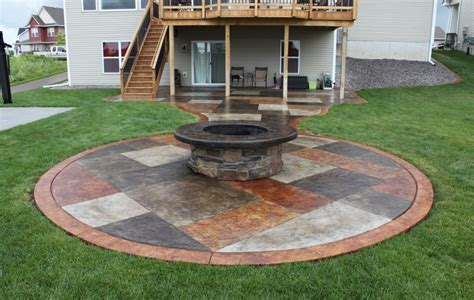 Backyard Cement Patio Ideas Concrete Patio Ideas Budget Landscaping Gardening Ideas