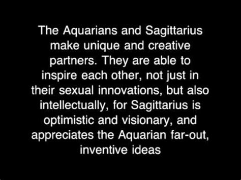 aquarius and sagittarius love compatibility youtube