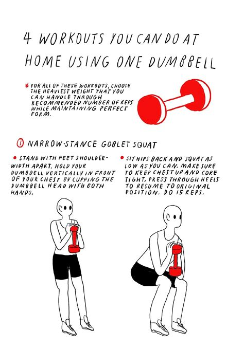 4 exercises you can do at home using only one dumbbell